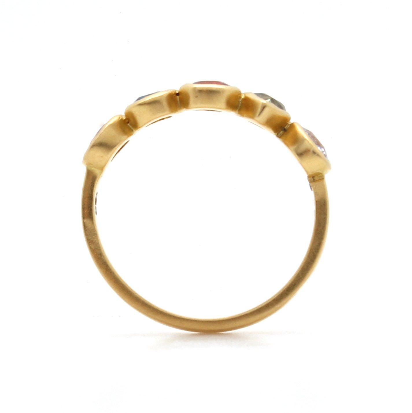 Multi Sapphire Half Crown Ring O D Amp H Jewelers