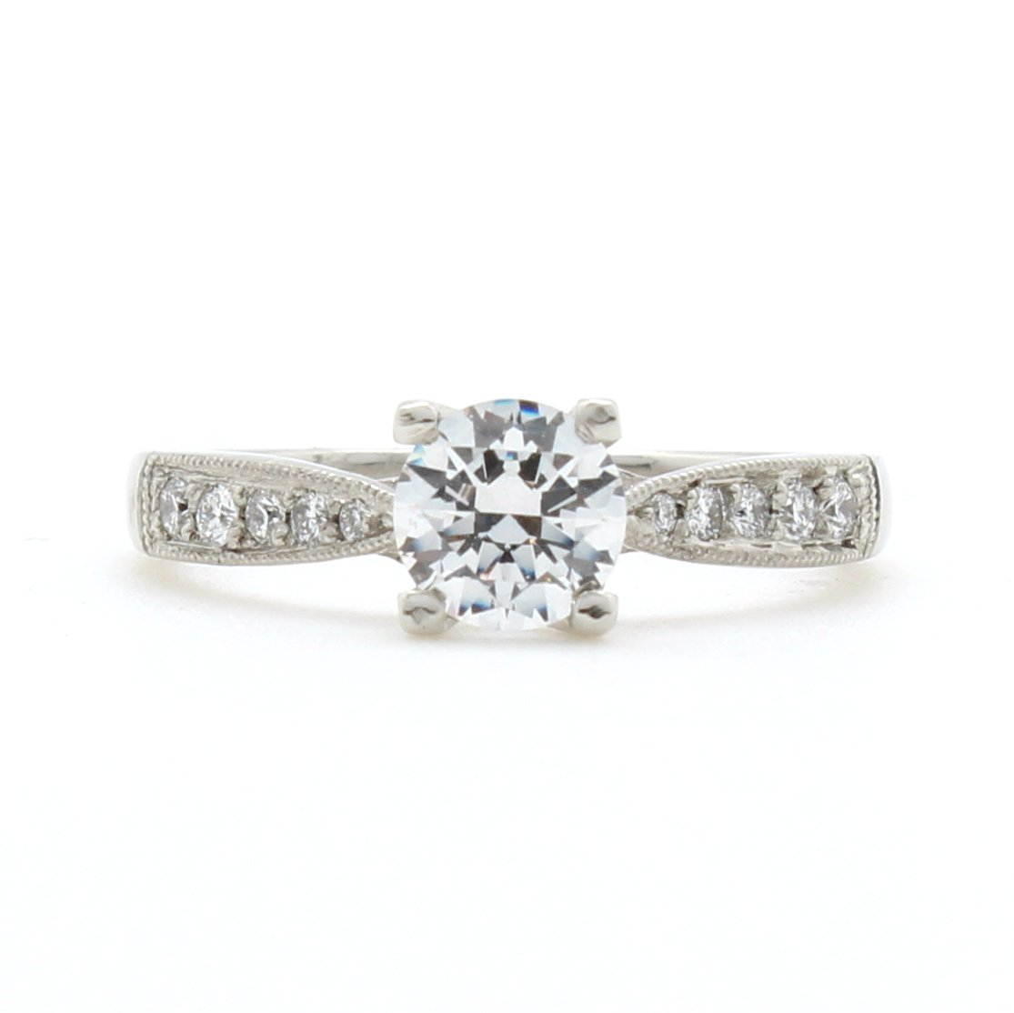 Pavé Bands: Pave Diamond Pinched Band Ring